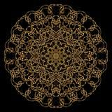 Мандала золота Стоковое Изображение