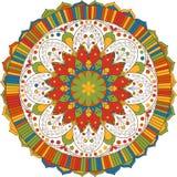 мандала индийская картина Иллюстрация штока
