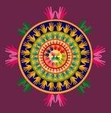 Мандала йоги Индии Стоковые Фото