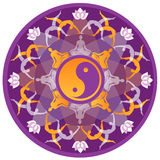 Мандала йоги Стоковое фото RF