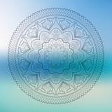 Мандала контура Deco вектора красивая Monochrome, этнический талисман Стоковое Изображение
