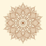 Мандала. Красивый нарисованный вручную цветок. Стоковое Фото