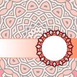 Мандала красного цвета рамки Стоковая Фотография