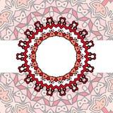 Мандала красного цвета рамки Стоковое Фото