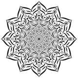 мандала Круговой орнамент вектора Стоковая Фотография