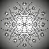 мандала Круглая картина орнамента Стоковое Изображение