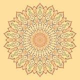мандала Круглая картина орнамента Стоковое Изображение RF