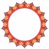 Мандала - круглая рамка для вашего текста Пустой космос, белое backgrou Стоковые Изображения