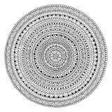 Мандала нарисованная вручную Круговая печать Этнические и племенные мотивы Стоковое Фото