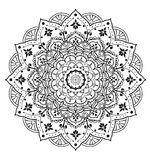 Мандала нарисованная рукой Стоковые Изображения