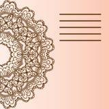 Мандала орнамента Геометрический элемент круга сделанный в векторе Совершенные карточки для любого другого вида дизайна, дня рожд Стоковая Фотография RF