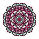 мандала Орнаментальная круглая картина Стоковое Изображение