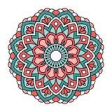 мандала Орнаментальная круглая картина Стоковые Изображения