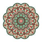 мандала Орнаментальная круглая картина Стоковое Изображение RF