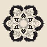 Мандала плана для книжка-раскраски декоративный орнамент круглый Стоковые Изображения RF