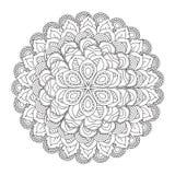 Мандала плана для книжка-раскраски декоративный орнамент круглый Стоковая Фотография RF