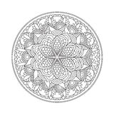 Мандала плана для книжка-раскраски декоративный орнамент круглый Стоковое Изображение