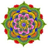 Мандала священного лотоса Стоковое Изображение