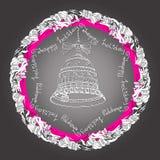 Мандала с колоколами, праздник рождества рукописных слов счастливый Стоковое Фото