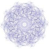 Мандала с священными символами и элементами геометрии Стоковые Фотографии RF
