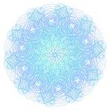 Мандала с священными символами и элементами геометрии Стоковая Фотография