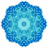 Мандала с текстурой акварели искусства handmade Стоковые Фотографии RF