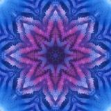 Мандала с текстурой акварели искусства handmade Стоковое Изображение RF