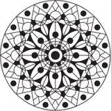 Мандала с цветком в середине иллюстрация вектора