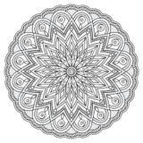 Мандала с элементами нарисованными рукой Стоковое Изображение