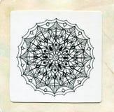 Мандала татуировки хны вектора Декоративная картина в восточном стиле Страница книжка-раскраски Стоковые Фотографии RF