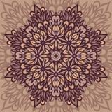 Мандала цветка абстрактная предпосылка Стоковое Изображение RF