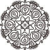 Мандала цветка вектора нарисованная рукой этнический орнамент иллюстрация вектора