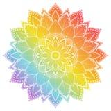 Мандала цветка Элементы винтажной татуировки декоративные Восточная картина, иллюстрация вектора Стоковая Фотография RF