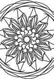 Мандала цветка Стоковое Фото
