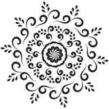 Мандала черноты Deco вектора красивая Стоковые Изображения RF