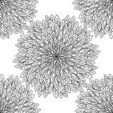 мандала Черно-белый круглый орнамент также вектор иллюстрации притяжки corel Стоковые Фотографии RF