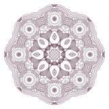 мандала Этнические декоративные элементы Винтажное круглое Пэт орнамента Стоковые Изображения