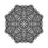 мандала Этнические декоративные элементы рука нарисованная предпосылкой востоковедно Стоковые Изображения