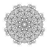 мандала Этнические декоративные элементы рука нарисованная предпосылкой востоковедно Стоковые Изображения RF