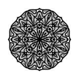 мандала Этнические декоративные элементы рука нарисованная предпосылкой Большой бутон цветка Стоковая Фотография RF