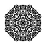 мандала Этнические декоративные элементы рука нарисованная предпосылкой Большой бутон цветка Стоковые Изображения RF