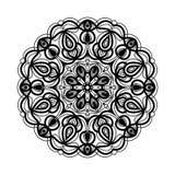 мандала Этнические декоративные элементы рука нарисованная предпосылкой Большой бутон цветка Стоковое Изображение RF