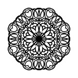мандала Этнические декоративные элементы рука нарисованная предпосылкой Большой бутон цветка Стоковые Фотографии RF