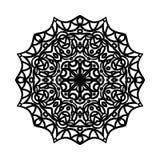 мандала Этнические декоративные элементы рука нарисованная предпосылкой Большой бутон цветка Стоковые Изображения