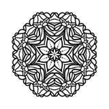 мандала Этнические декоративные элементы рука нарисованная предпосылкой Большой бутон цветка Стоковые Фото