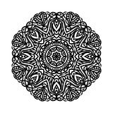 мандала Этнические декоративные элементы рука нарисованная предпосылкой Большой бутон цветка Стоковое фото RF
