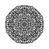 мандала Этнические декоративные элементы рука нарисованная предпосылкой Большой бутон цветка Стоковое Изображение