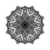 мандала Этнические декоративные элементы рука нарисованная предпосылкой Большой бутон цветка Стоковая Фотография
