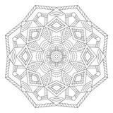 мандала Этнические декоративные элементы Стоковые Изображения RF