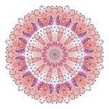 Мандала этнических богато украшенных пер акварели абстрактная Стоковое Изображение RF